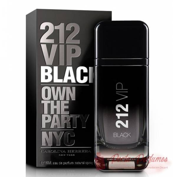 Decant / Amostra do Perfume Masculino Carolina Herrera 212 Vip Men Black (EDP)