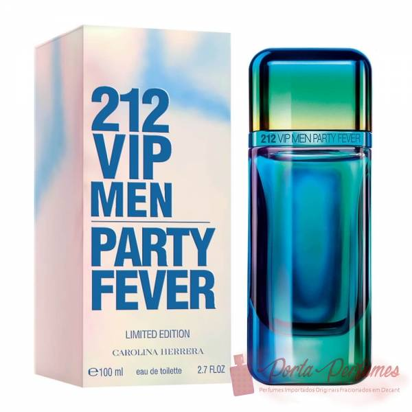comprar Decant / Amostra do Perfume Masculino Carolina Herrera 212 Vip Men Party Fever Eau de Toilette (EDT)
